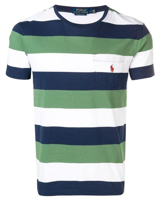 メンズ Polo Ralph Lauren ストライプ ロゴtシャツ Multicolor