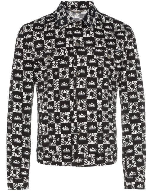 メンズ Dolce & Gabbana チェック デニムジャケット Black