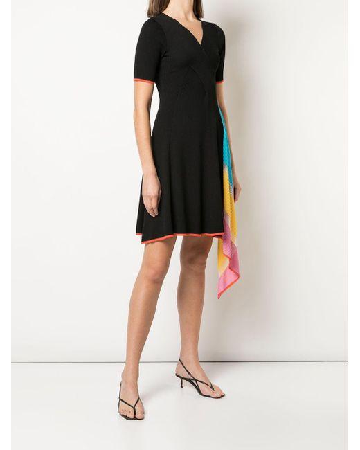 i-am-chen カラーブロック ドレス Black
