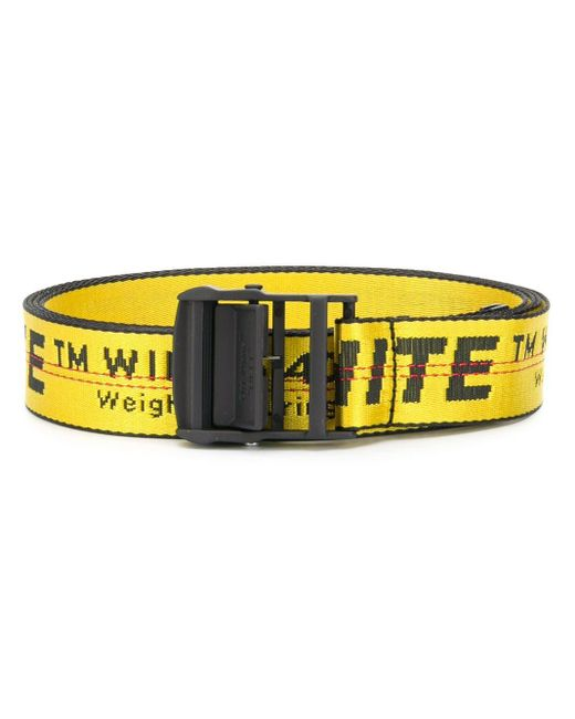 Women's Black And Yellow Industrial Logo Belt by Lyst