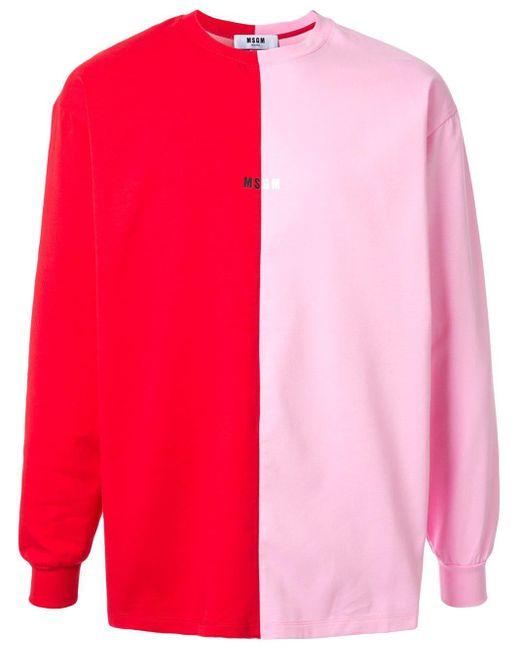 メンズ MSGM カラーブロック セーター Multicolor