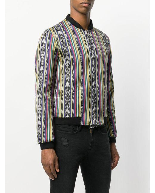 Куртка-бомбер С Узором Saint Laurent для него, цвет: Multicolor