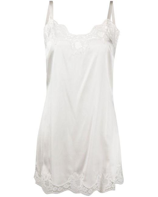 Платье-комбинация С Кружевом Dolce & Gabbana, цвет: White