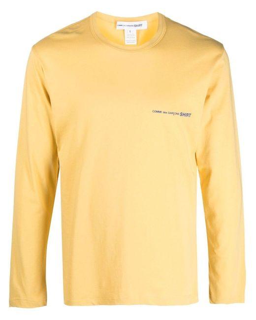 T-shirt con stampa di Comme des Garçons in Yellow da Uomo