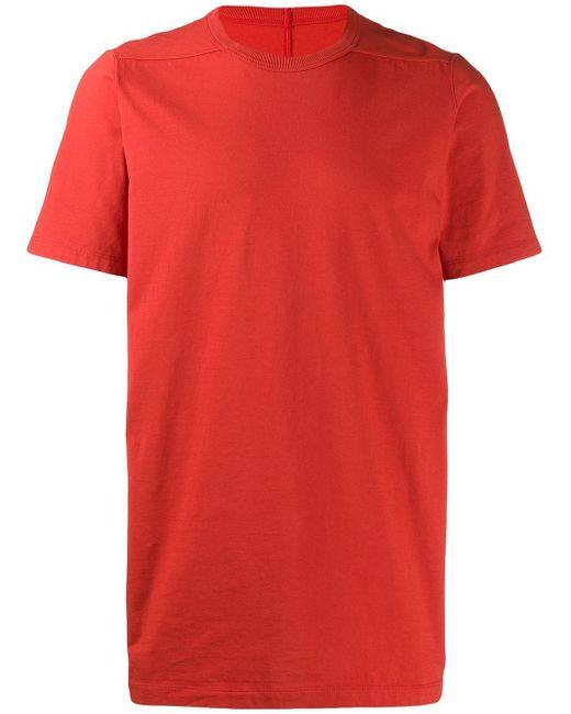 メンズ Rick Owens ラウンドネック Tシャツ Red