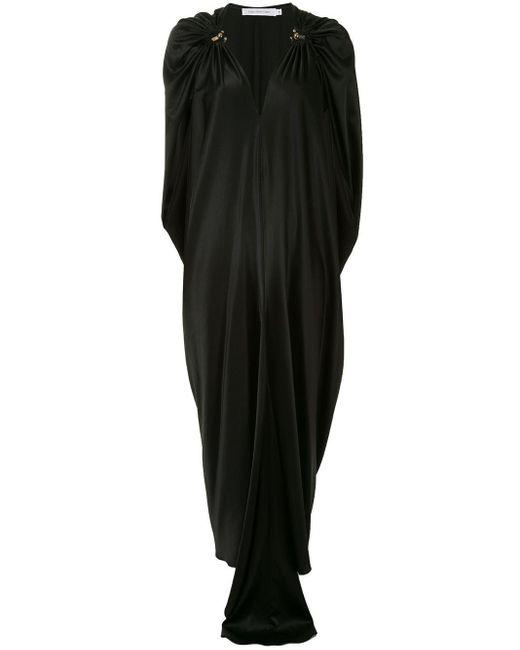 Christopher Esber ドレープ イブニングドレス Black
