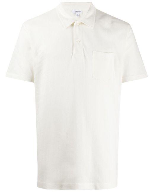 メンズ Sunspel Riviera ポロシャツ White