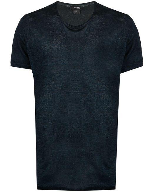メンズ Avant Toi ジャージー Tシャツ Blue