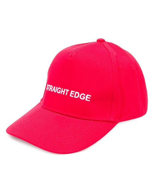 Andrea Crews - Red Slogan-detail Cap for Men - Lyst