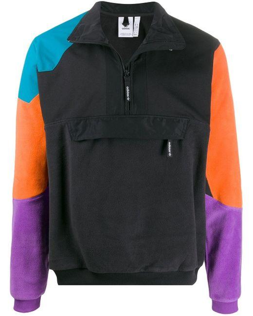 メンズ Adidas カラーブロック ジャケット Black