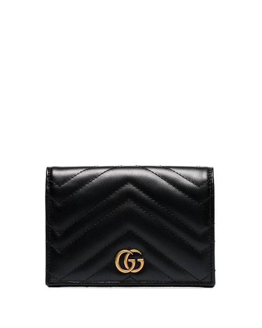 Gucci Black GG Marmont Quilted Passport Wallet