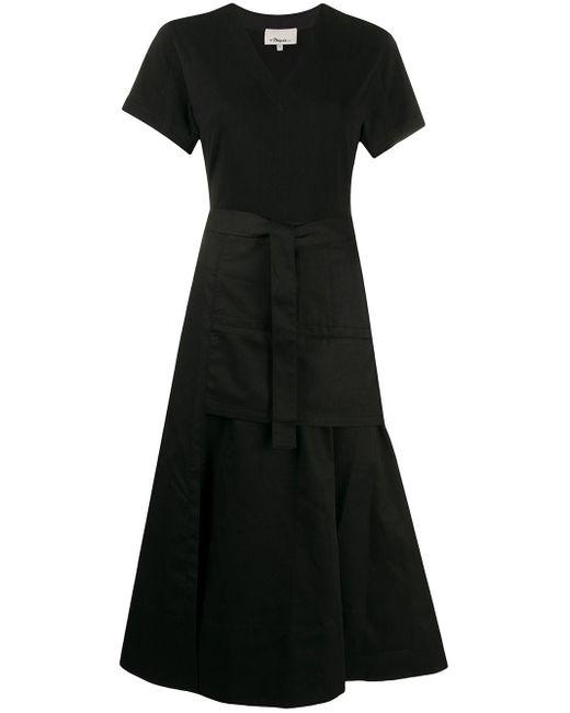 3.1 Phillip Lim Vネック ドレス Black