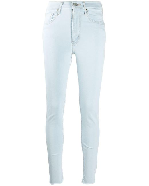 Levi's Blue High Rise Skinny Jeans