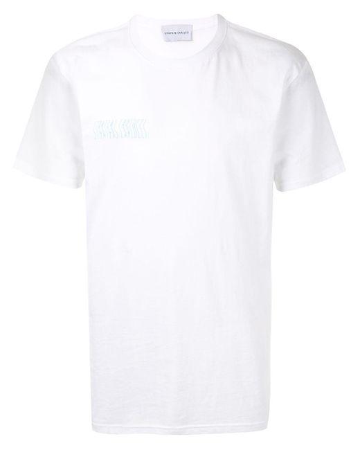 T-shirt con stampa di Strateas Carlucci in White