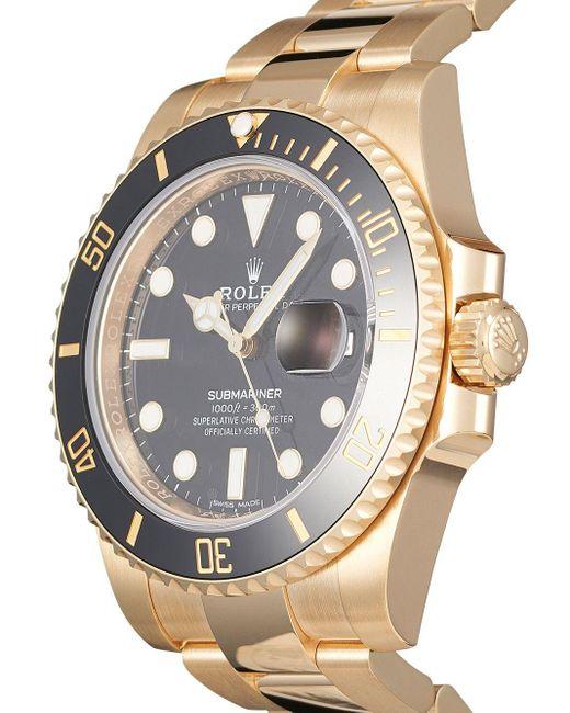 Наручные Часы Submariner 40 Мм Pre-owned Rolex для него, цвет: Black