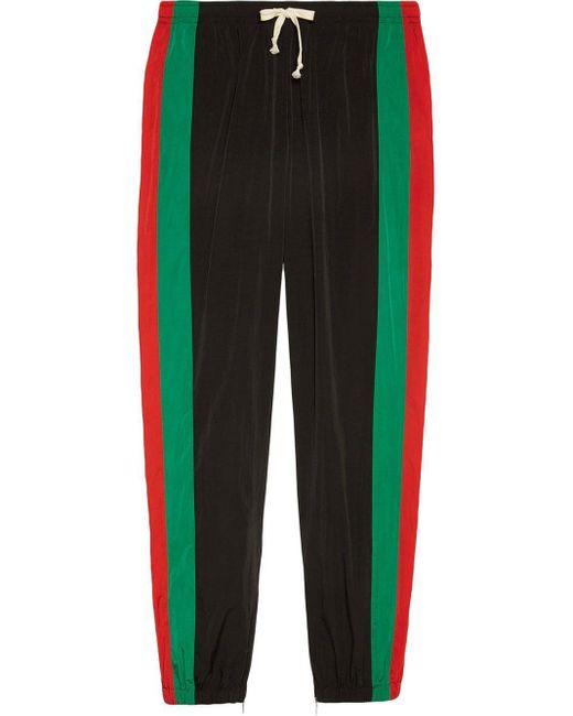 Джоггеры В Полоску Web Gucci для него, цвет: Black