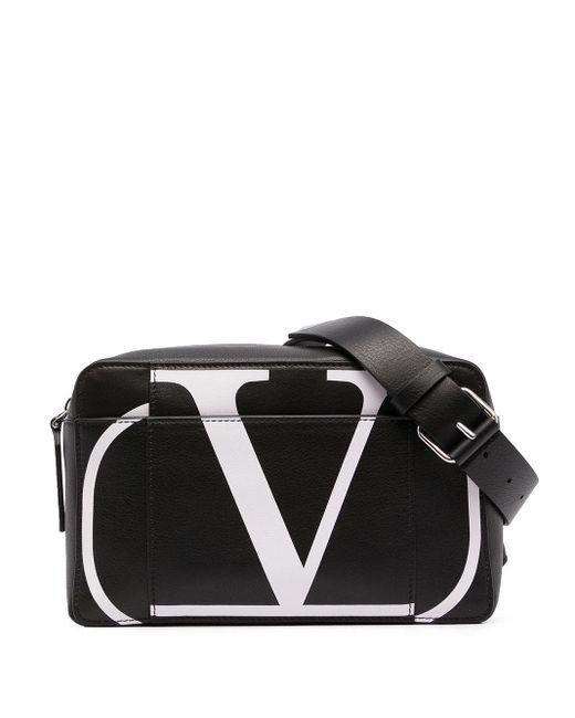 メンズ Valentino Garavani Valentino Garavani Vロゴ ベルトバッグ Black