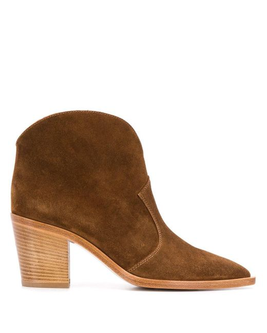 Gianvito Rossi ウエスタンブーツ Brown