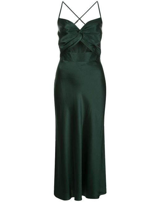 Michelle Mason Twist シルク ドレス Green