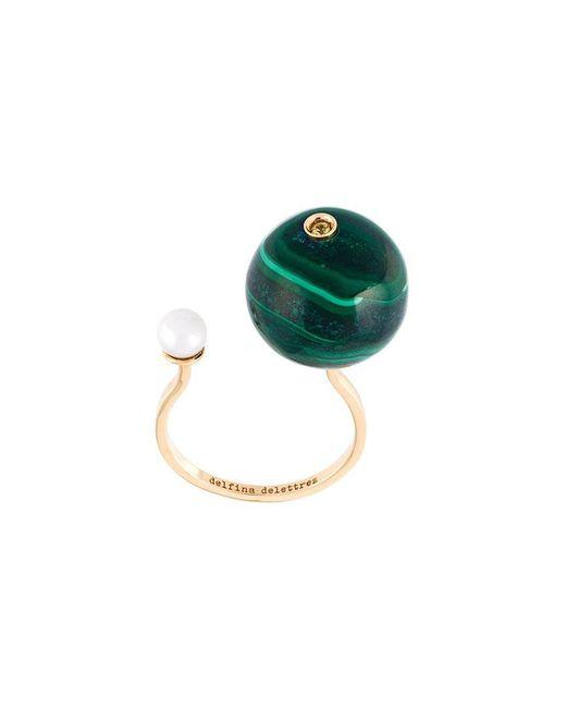 Delfina Delettrez - Green 'stone-edge Piercing' Sapphire Ring - Lyst
