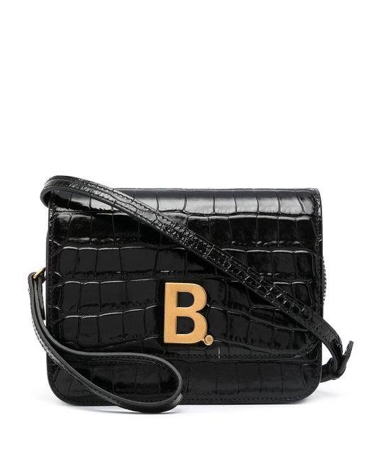 Balenciaga ロゴプレート ミニバッグ Black