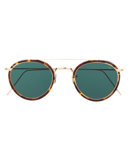 Солнцезащитные Очки-авиаторы Черепаховой Расцветки Eyevan 7285, цвет: Brown