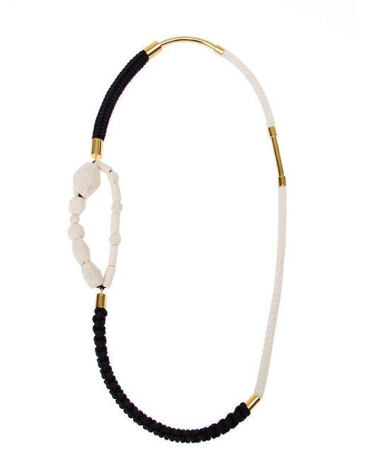 Marni | Black Fabric Necklace | Lyst