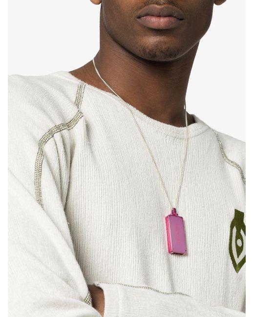 Серебряное Колье С Подвеской-флешкой Ambush для него, цвет: Pink