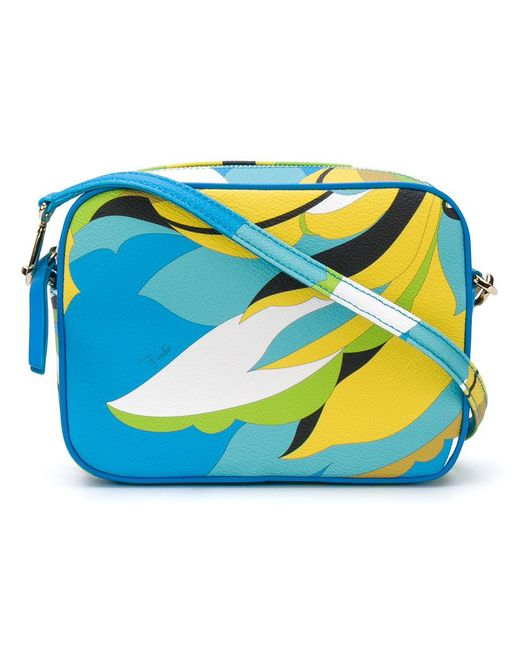 Emilio Pucci | Blue Abstract Print Shoulder Bag | Lyst