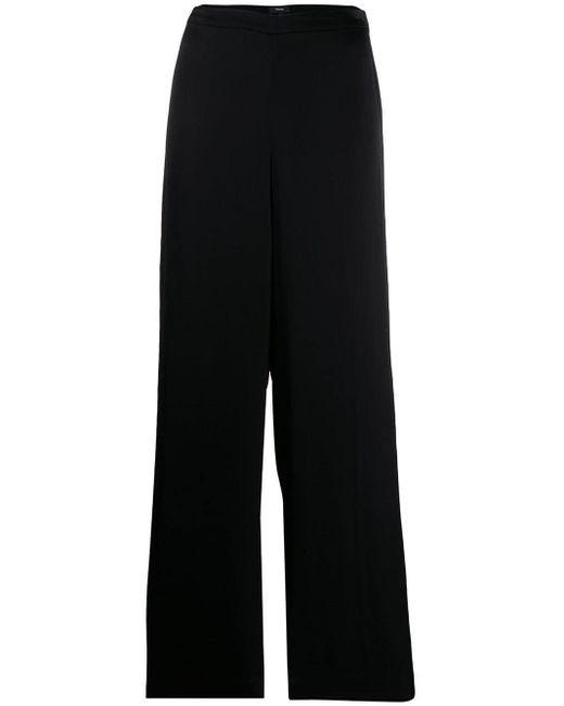 Theory Pantalones palazzo de mujer de color negro