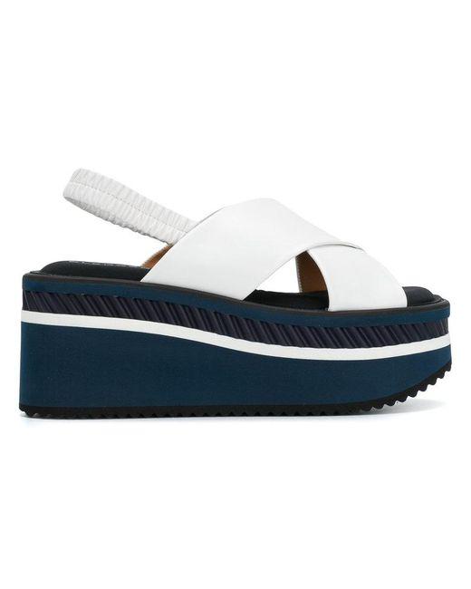 Clergerie - White Cross Platform Sandals - Lyst