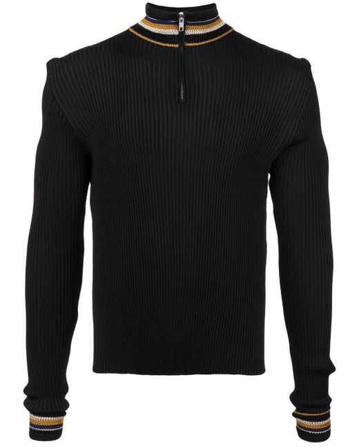 Pull à détail rayé Wales Bonner pour homme en coloris Black
