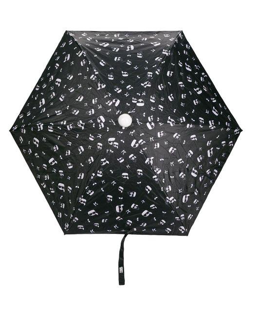 Складной Зонт С Принтом Karl Karl Lagerfeld, цвет: Black