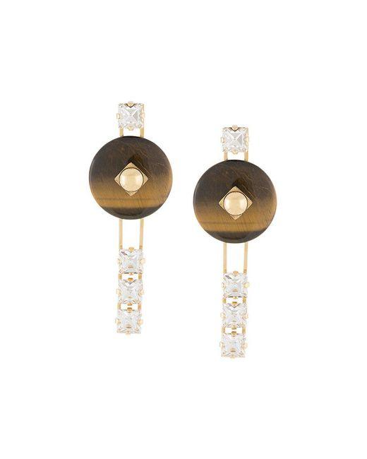 Crystalline - Metallic Tiger Eye Earrings - Lyst