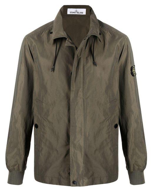 Куртка В Стиле Милитари С Нашивкой-логотипом Stone Island для него, цвет: Green