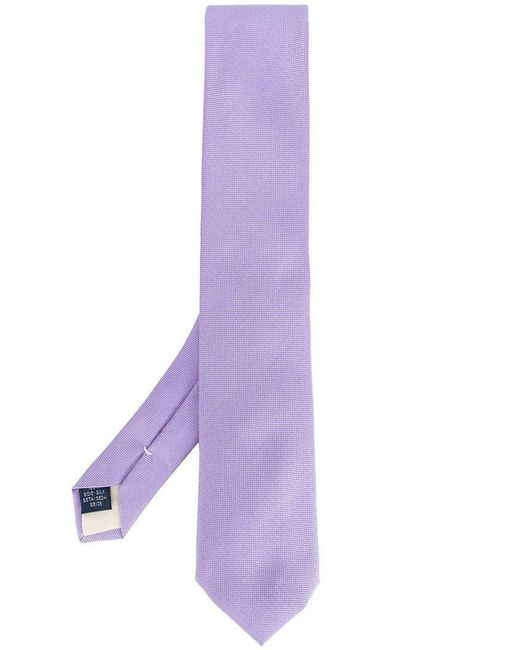 Fashion Clinic Timeless - Purple Classic Woven Tie for Men - Lyst