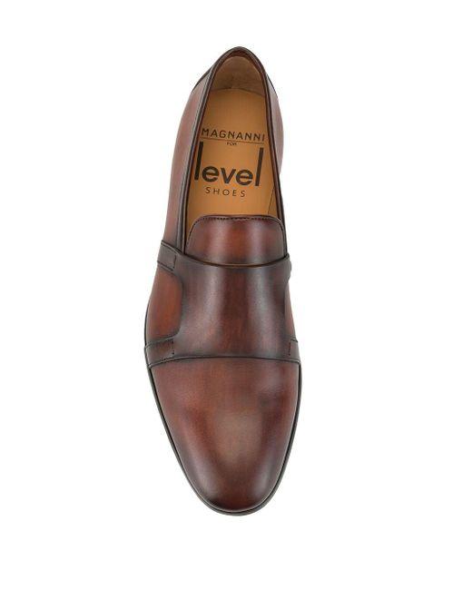 メンズ Magnanni Shoes ローヒール ローファー Brown