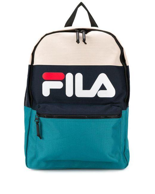 メンズ Fila カラーブロック バックパック Blue
