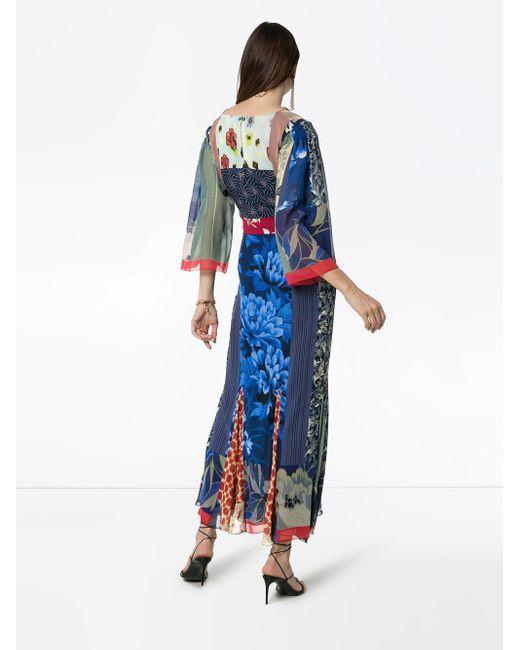 Etro パッチワークドレス Blue