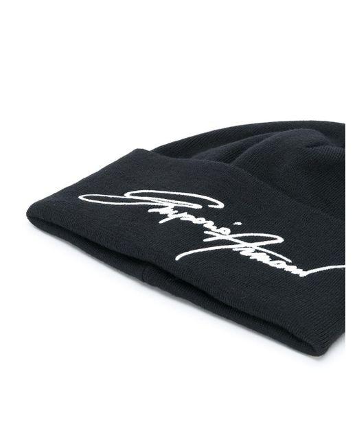 Шапка Бини С Вышитым Логотипом Emporio Armani для него, цвет: Black