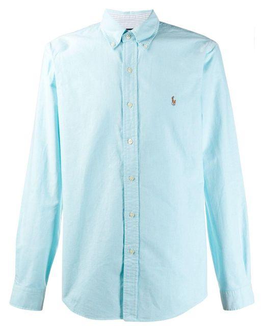メンズ Ralph Lauren ロゴエンブロイダリー シャツ Blue