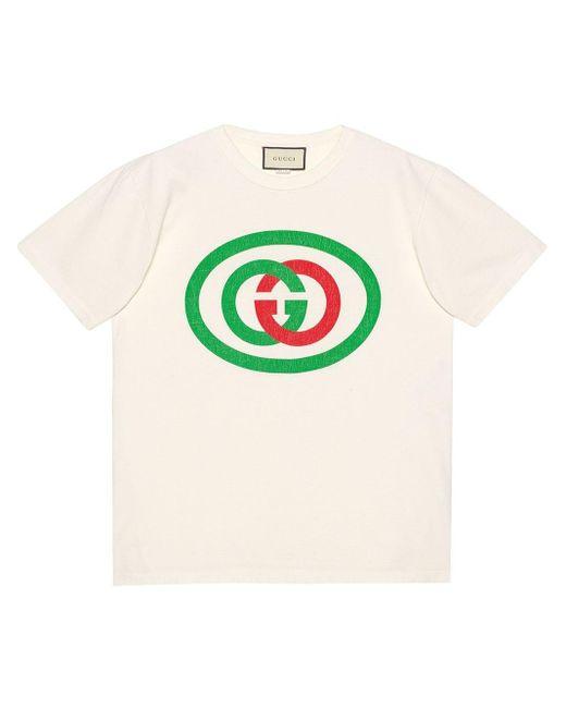 メンズ Gucci グッチインターロッキングg オーバーサイズ Tシャツ Multicolor