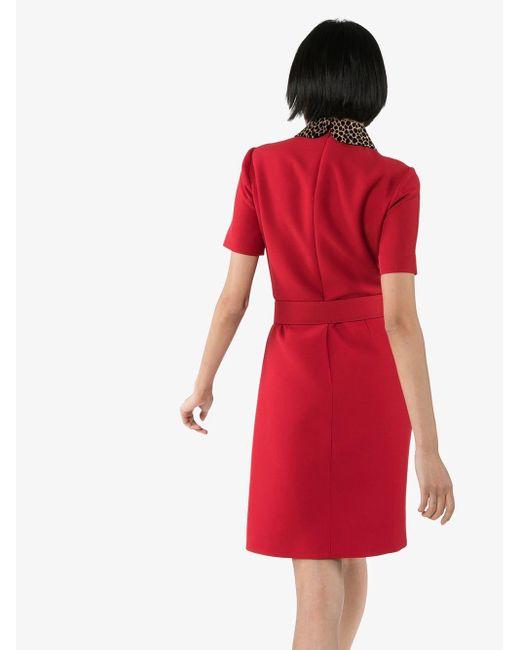 Gucci ベルテッド ドレス Red