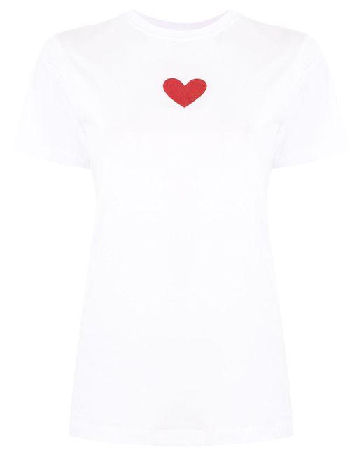 Victoria, Victoria Beckham メタリックハート Tシャツ White