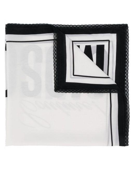 Moschino ロゴ スカーフ Black