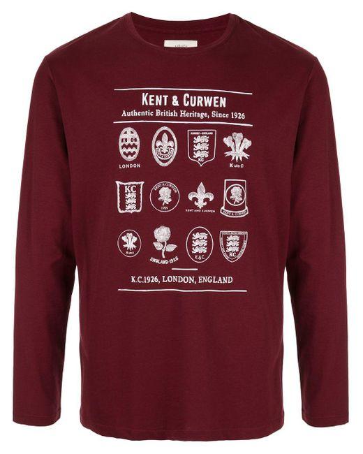 メンズ Kent & Curwen ロングtシャツ Red