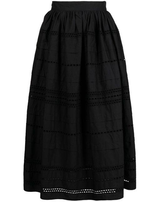 Расклешенное Платье С Английской Вышивкой RED Valentino, цвет: Black