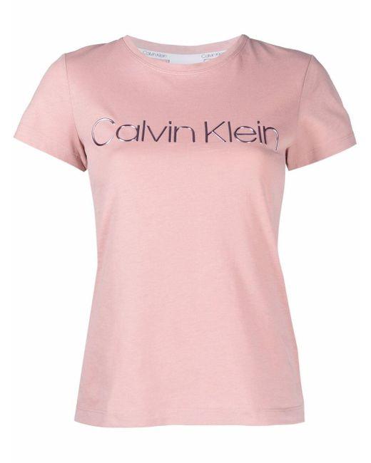 Calvin Klein ロゴ Tシャツ Pink