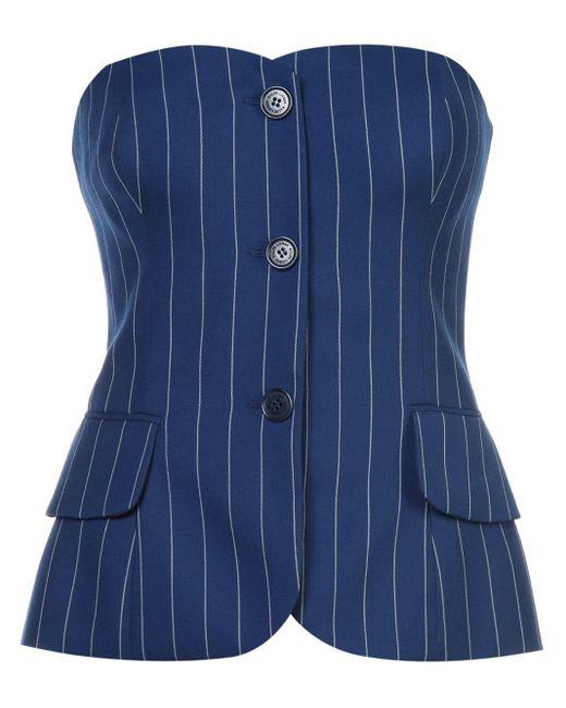 Ralph Lauren Collection ストライプ コルセット Blue