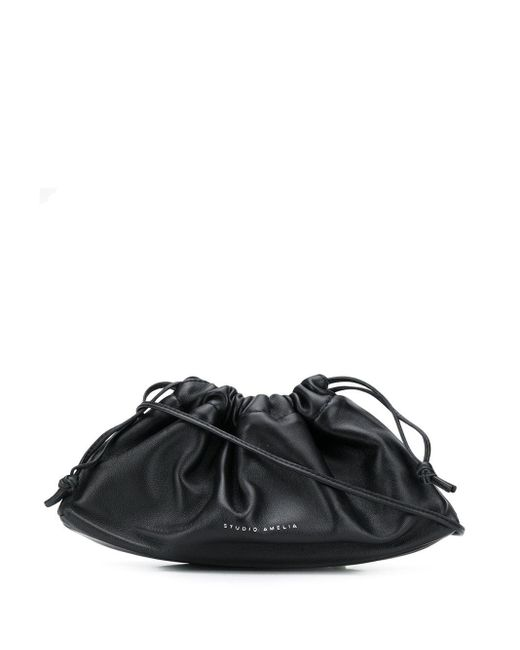 STUDIO AMELIA ドローストリング ハンドバッグ Black